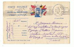 Courrier Miltaire       60 Ieme  Régiment  1915 - Altri
