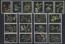 1962-VENEZUELA -FLOWERS-FLEURS-ORCHIDS-18 VAL. - Venezuela
