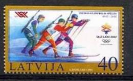 LETTONIE LATVIA 2002, BIATHLON, 1 Valeur Isue Du Carnet, Non Dentelée En Bas, Neuf. R972 - Inverno2002: Salt Lake City