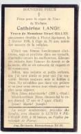D6505 - Souvenir De Décès - Cathérine LANGE Veuve Henri GILLES - Florzé - Sprimont - Overlijden