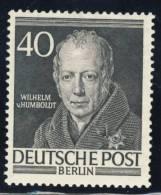 1952 Berlin MNH 40 Pfg. Humboldt High Value Of Set - [5] Berlin