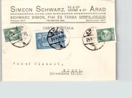 Romania Simeon Schwarz In Arad 1934 Carte Postale Ce2036 - Entiers Postaux