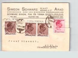 Romania Simeon Schwarz In Arad 1938 Carte Postale Ce2037 - Interi Postali