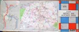 FRANCE,RATP-PARIS-METRO RER AUTOBUS PLANS,1979 - Cartes Routières
