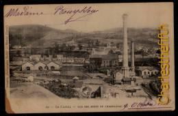 LE CANTAL - VUE DES MINES DE CHAMPAGNAC - Expédiée Vers La Belgique 1902 - Rare ! - Mines