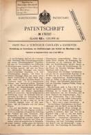 Original Patentschrift - Hans Prinz Zu Schönaich Carolath In Hannover , 1905 , Antrieb Für Automobile !!! - Transport