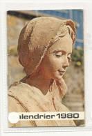 Calendrier, Soeurs, Disciples Du Divin Maître - 1980 - Frais De Port : € 1.55 - Calendari