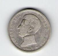 ALFONSO XIII   1 PESETA PLATA   1905    CECA MADRID  NL163 - [ 1] …-1931 : Reino