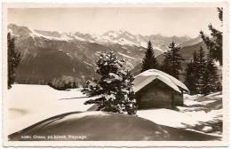 CH - VS - Crans En Hiver. Paysage - Société Graphique N° 4385 (gelaufen /circulée) [châlet - Alphütte] - VS Valais