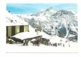 Cp, 05, Orcières-Merlette, Télécabine Du Drouvet Et Le Massif De Garabru, Voyagée 1988 - Orcieres