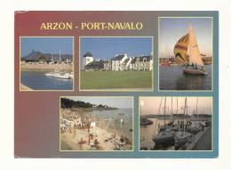 Cp, 56, Arzon - Port-Navalo, Multi-Vues, Voyagée 1989 - Arzon