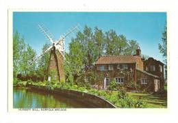 Cp, Angleterre, Norfolk Brods, Hunsett Mill, Voyagée 1989 - Non Classés