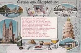 ALLEMAGNE GRUSS AUS MAGDEBURG 1917 - Magdeburg