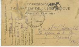 "39 Dole Cachet FMDa""7°section D´infirmiers Militaires*le Commandant - Postmark Collection (Covers)"