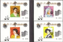 """ERITREA Nicht Offizielle Rotarier-Ausgabe """"25.Jahrestag Der Krönung Elisabeth II.""""  4 Blocks Ungezähnt Ungebraucht - Case Reali"""