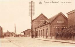 FRASNES LEZ BUISSENAL - Place De La Station - Superbe Carte Animée - Frasnes-lez-Anvaing