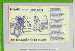 BUVARD :Offert Par GERMALYNE  La Revanche De La Cigale - Animaux