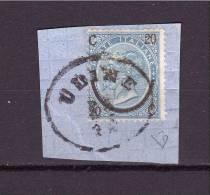 1863-67 Vitt. Emanuele II  Sassone N° 24  ( Udine,  Rare Austrian Cancellation  On Italian Stamp) Exp. E. Diena - 1861-78 Vittorio Emanuele II