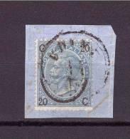1863-67 Vitt. Emanuele II  Sassone N° 24  ( Udine,  Rare Austrian Cancellation  On Italian Stamp) - 1861-78 Vittorio Emanuele II