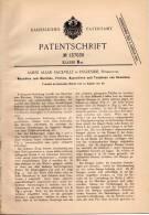 Original Patentschrift - J. Sackville In Ingleside , Pendleton , 1901 , Maschine Zum Bleichen Und Färben Von Gewebe !!! - Tools