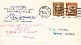U.S. Airport Dedication  YUBA CITY, Ca. 1930 - Covers & Documents