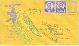 U.S. First Flight Cover  Postal History Springfield, Ill. 1926 - Air Mail