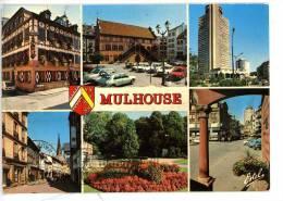 Mulhouse - Multivues : Hotel Guillaume Tell Hotel De Ville Tour De L'Europe Rue Henriette Square Tivoli Place Réunion Bl - Mulhouse