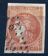 """YT 48 """" Cérès émission De Bordeaux 40c. Orange """" 1870 GC - 1870 Bordeaux Printing"""