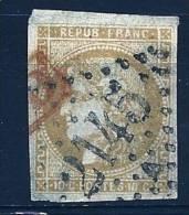 """YT 43B """" Cérès émission Bordeaux 10c. Bistre-jaune """" 1870 GC 2145 + PD Rouge - 1870 Bordeaux Printing"""
