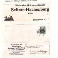 Briefe 1937 Bahnpost Limburg-Altenkirchen Kleinbahn Eisenbahn Selter Hachenburg Ger2912 - Briefe U. Dokumente