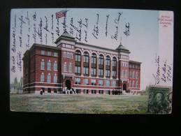 CP Carte Postale USA Etats Unis Jordan High School Lewiston, ME Couleur Très Animée(4) - Lewiston