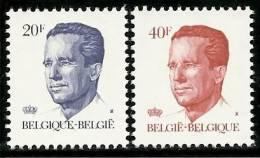 BELGIQUE - Année 1984 - Roi Baudouin 1er- Type Ki - N° 2135 Et 2136 ** TTB - Unused Stamps