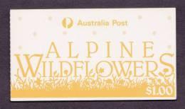 $1 ALPINE WILDFLOWERS 1986 - MINT BOOKLET - Markenheftchen