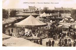 60 - CREPY-en-VALOIS - Place De La République - Foire Annuelle - Manège - Cpsm Animée - Unclassified
