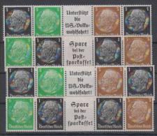 Germany Reich Hindenburg Medallion Automat Stamps Mi#512,513,515 1933/36 MNH ** - Ungebraucht