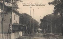 (40)-Mimizan-les-Bains (cote D´argent)  Route De  La  Plage à Mimizan -bourg (1) - Mimizan