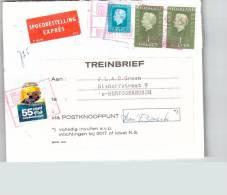 Treinbrief /speodbestelling Expres /brief 1972 Via Postknooppunt Nederlandsche Spoorwegen Treinbriefzegel Holl2424a - 1949-1980 (Juliana)