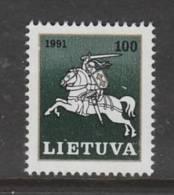 TIMBRE NEUF DE LITUANIE - SERIE COURANTE 1991 : GRAND DUC VITAUTAS N° Y&T 424 - Lithuania