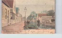 Zaandam: Heerengracht Uitg Nauta Velsen Hand-colored 1904 Posted  Nl704 - Zaandam