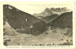 Châtel. Le Village ,le Col De Morgins Et Dents Du Midi. - Châtel