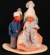 Poupées De COLLECTION Régionales—Couple Mignonnettes—Meunier—NORMANDIE—Années 60 / 70 - Puppen