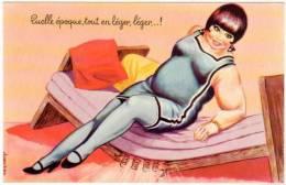 CARRIERE  Obésité - Quelle époque, Tout En Léger, Léger ...!    (48063) - Carrière, Louis