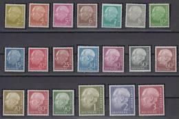 Germany Bundesrepublic The President Theodor Heuss Mi#177/196 1954 MNH ** - BRD