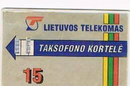 LITUANIA (LITHUANIA) - LIETUVOS TELEKOMAS  (CHIP) -  1993 EXITON: COMLIET  15 (TIRAGE 700) -  USED °  - RIF. 5182 - Lituania