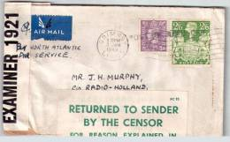 UK Cover From Grimsby 1943 Returned To Sender Memorandum Enclosed - Poststempel
