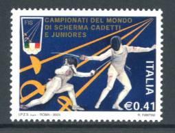 ITALIA / ITALY 2003** - Campionati Del Mondo Di Scherma Cadetti E Juniores - 1 Val. MNH  Come Da Scansione - Scherma