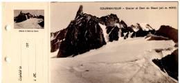 Courmayeur:Glacier Et Dent Du Geant(alt.m.4013)- Carte+talon Memo - Italia