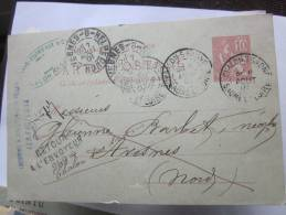 FRANCE- 1901- BEAUX TAMPONS VOIR PHOTOS - Postal Stamped Stationery