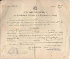 MILITARI.DOCUMENTO.E. IL MINISTRO  PER L'ASSITENZA MILITARE E PENSIONI DI GUERRA .LEGNANO 1919 - Police