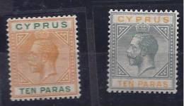 Cyprus1921: Mi69-70(Scott72-3)mh** - Zypern (...-1960)